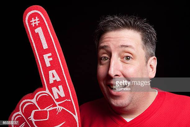 sports guys 09 - foam hand stock photos and pictures