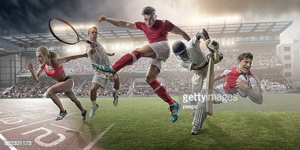 sports heroes - athletics stock photos and pictures