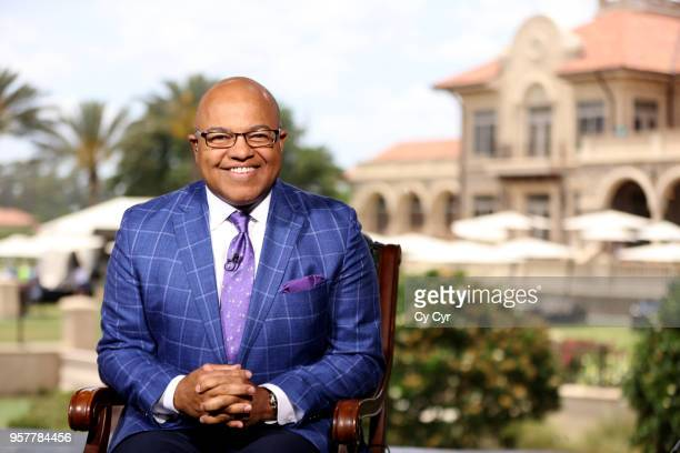 Sports host Mike Tirico during the third round of THE PLAYERS Championship on THE PLAYERS Stadium Course at TPC Sawgrass on May 12 in Ponte Vedra...