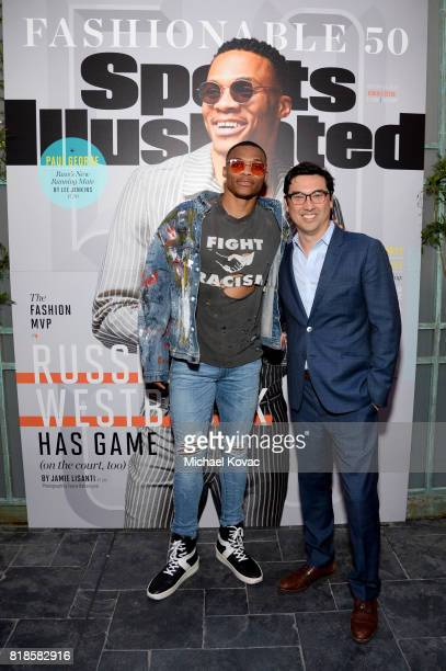 Sports Illustrated Fashionable 50 honoree Russell Westbrook and Sports Illustrated editor in chief Chris Stone at Sports Illustrated 2017 Fashionable...