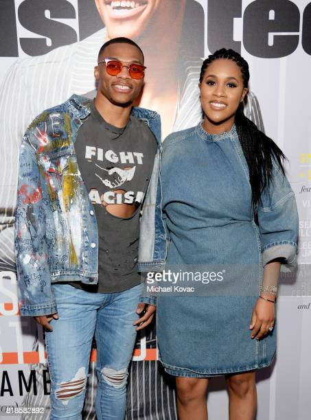 Sports Illustrated Fashionable 50 honoree Russell Westbrook and Nina Earl at Sports Illustrated 2017 Fashionable 50 Celebration at Avenue on July 18...