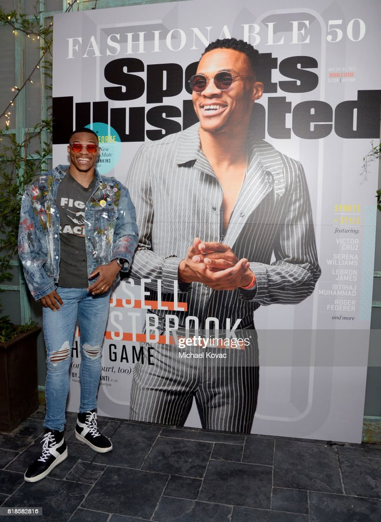 Sports Illustrated Fashionable 50 honoree Russell Westbrook at Sports Illustrated 2017 Fashionable 50 Celebration at Avenue on July 18, 2017 in Los Angeles, California.