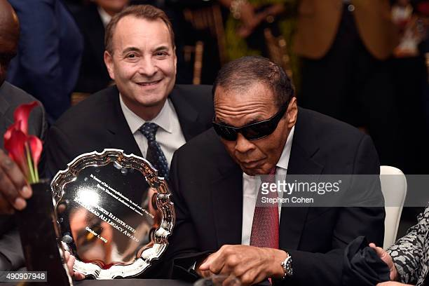 Sports Illustrated Group Editor Paul Fichtenbaum and Muhammad Ali attends the Sports Illustrated Tribute to Muhammad Ali at The Muhammad Ali Center...