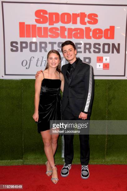 Sports Illustrated Kids SportsKid of the Year Ally Sentnor and Noah Schnapp attend the 2019 Sports Illustrated Sportsperson Of The Year at The...