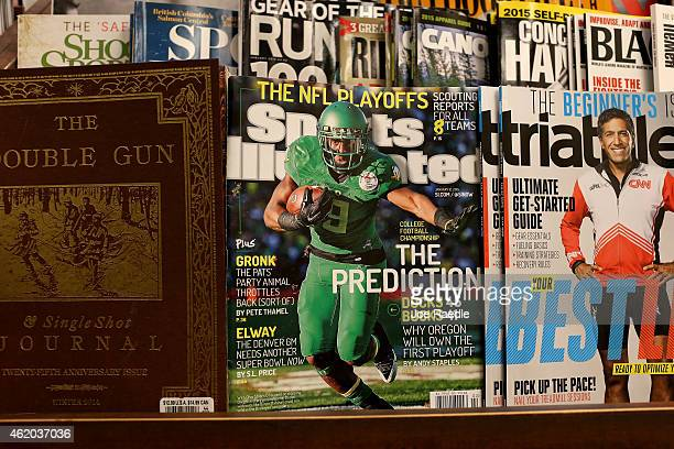 Sports Illustrated magazine is seen on a book store shelf on January 23 2015 in Miami Florida Time Inc the parent company of the magazine announced...