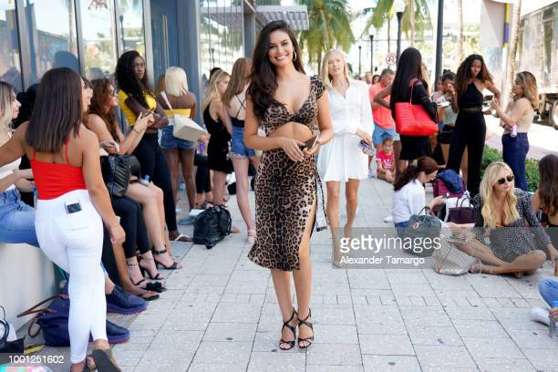 Sports Illustrated Model Anne de Paula poses in the line of potential models during the 2018 Sports Illustrated Swimsuit Casting Call at PARAISO...