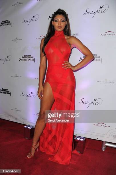 Sports Illustrated model Danielle Herrington attends SI Swimsuit On Location after party at Seaspice on May 10 2019 in Miami Florida