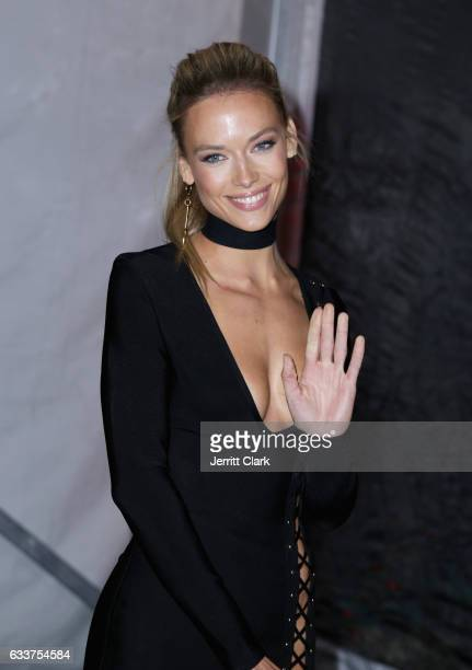 Sports Illustrated Model Hannah Ferguson attends the 4th Annual Leather Laces Spectacular During Super Bowl LI Weekend at Hughes Manor on February 3...