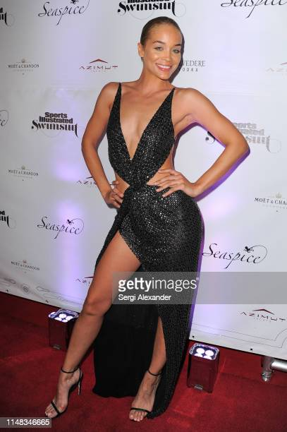 Sports Illustrated model Jasmine Sanders attends SI Swimsuit On Location after party at Seaspice on May 10 2019 in Miami Florida