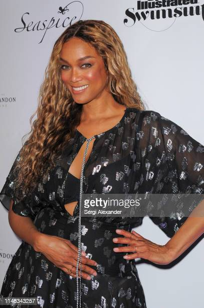 Sports Illustrated model Tyra Banks attends SI Swimsuit On Location after party at Seaspice on May 10, 2019 in Miami, Florida.
