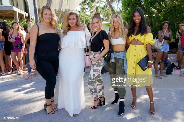 Sports Illustrated Models Kate Wasley Hunter McGrady Haley Kalil Camille Kostek and Jasmyn Wilkins attend the 2018 Sports Illustrated Swimsuit...