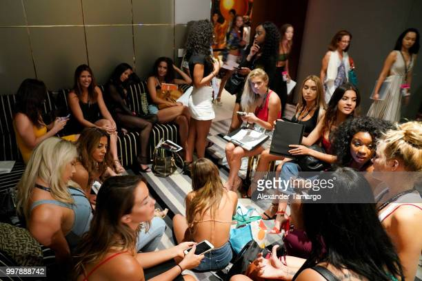 Sports Illustrated potentials attend the 2018 Sports Illustrated Swimsuit Casting Call at PARAISO during Miami Swim Week at The W Hotel South Beach...