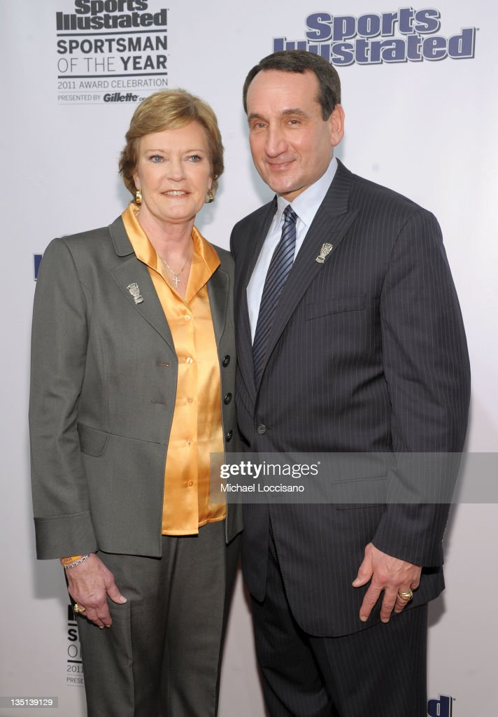 Sports Illustrated Sportswoman and Sportsman of the Year, College Basketball coaches Pat Summit and Mike Krzyzewski attend the 2011 Sports Illustrated Sportsman of the Year award presentation at The IAC Building on December 6, 2011 in New York City.