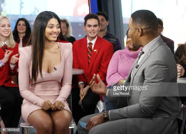 AMERICA Sports Illustrated Swimsuit 2018 cover model Danielle Herrington is a guest on Good Morning America Tuesday February 13 airing on the Walt...