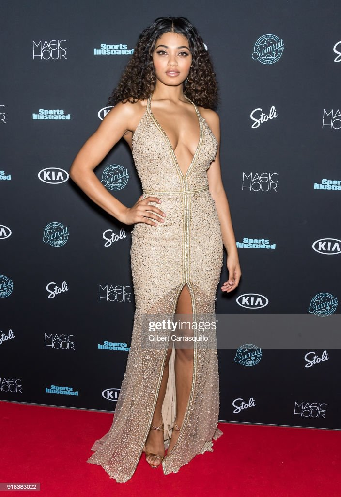 Sports Illustrated Swimsuit cover model Danielle Herrington attends the 2018 Sports Illustrated Swimsuit Issue Launch Celebration at Magic Hour at Moxy Times Square on February 14, 2018 in New York City.