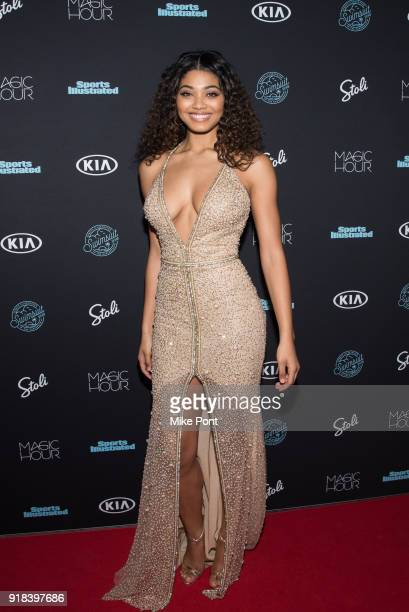 Sports Illustrated Swimsuit cover model Danielle Herrington attends the 2018 Sports Illustrated Swimsuit Issue Launch Celebration at Magic Hour at...