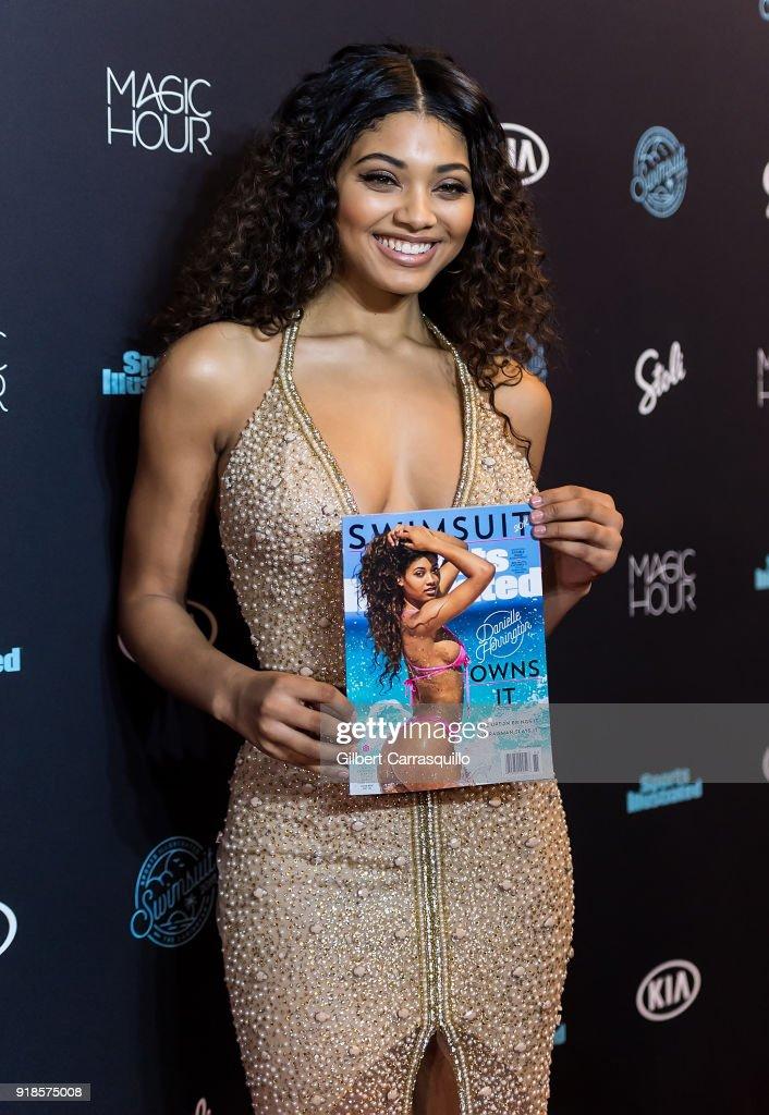 e224c2eee5 Sports Illustrated Swimsuit cover model Danielle Herrington attends ...