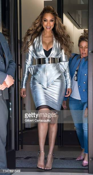 533f71fc1c8 Sports Illustrated Swimsuit Cover Model Tyra Banks is seen leaving BuzzFeed  on May 08 2019 in