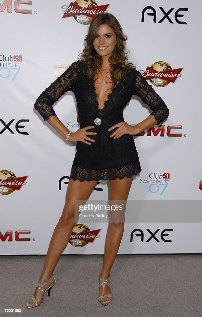 Sports Illustrated Swimsuit Issue model Yesica Toscanini arrives at a reception celebrating the 2007 Sports Illustrated Swimsuit Issue in which singer Beyonce Knowles appears on the cover at the Pacific Design Center on February 14, 2007 in Los Angeles, California.