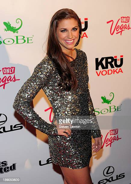 Sports Illustrated swimsuit model Alex Morgan arrives for SI on location red carpet event at Haze Nightclub at the Aria Resort Casino at CityCenter...