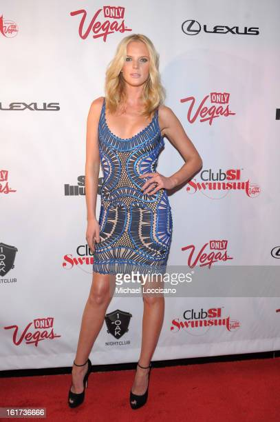 Sports Illustrated swimsuit model Anne V attends Club SI Swimsuit at 1 OAK Nightclub at The Mirage Hotel Casino on February 14 2013 in Las Vegas...