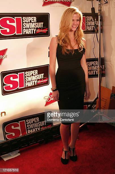 Sports Illustrated Swimsuit model Brooklyn Decker during Super Bowl XL Sports Illustrated Swimsuit Party February 4 2006 in Detroit Michigan United...