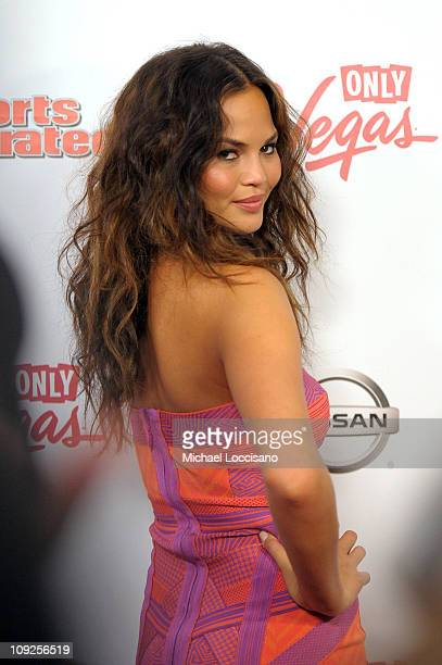 Sports Illustrated swimsuit model Christine Teigen arrives at Club SI Swimsuit hosted by Vanity at Vanity Nightclub at The Hard Rock Hotel and Casino...