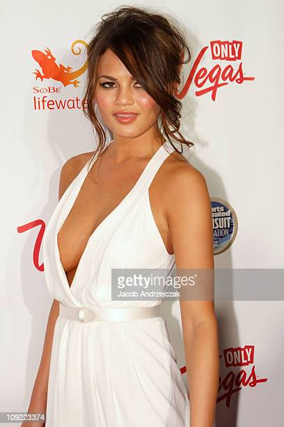Sports Illustrated swimsuit model Christine Teigen arrives at SI Swimsuit On Location hosted by LAX Nightclub at LAX Nightclub on February 16 2011 in...