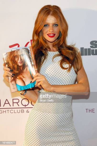 Sports Illustrated swimsuit model Cintia Dicker attends SI Swimsuit on Location at the Marquee Nightclub at The Cosmopolitan of Las Vegas on February...
