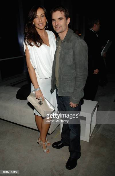 Sports Illustrated Swimsuit model Ingrid Vandebosch and her husband Nascar driver Jeff Gordon attend The Sports Illustrated Unveils 2008 Swimsuit...