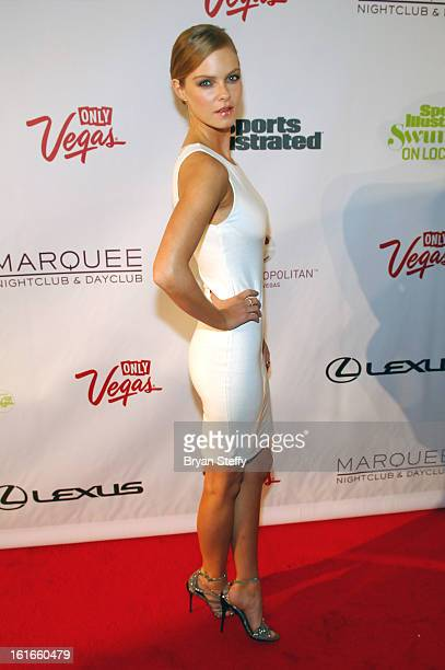 Sports Illustrated swimsuit model Jessica Perez attends SI Swimsuit on Location at the Marquee Nightclub at The Cosmopolitan of Las Vegas on February...