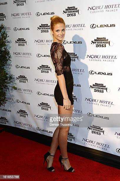 Sports Illustrated swimsuit model Kate Bock arrives at Caesars Palace on February 13 2013 in Las Vegas Nevada