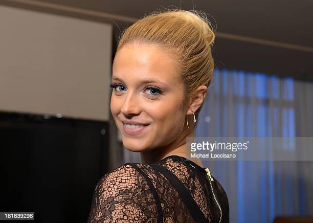 Sports Illustrated swimsuit model Kate Bock visits Forevermark Diamond Suite at The Cosmopolitan of Las Vegas on February 13 2013 in Las Vegas Nevada