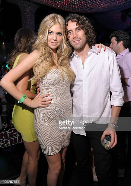 Sports Illustrated swimsuit model Kate Upton and photographer Bjorn Iooss attend Club SI Swimsuit hosted by Vanity at Vanity Nightclub at The Hard...