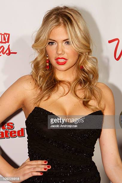 Sports Illustrated swimsuit model Kate Upton arrives at SI Swimsuit On Location hosted by LAX Nightclub at LAX Nightclub on February 16 2011 in Las...