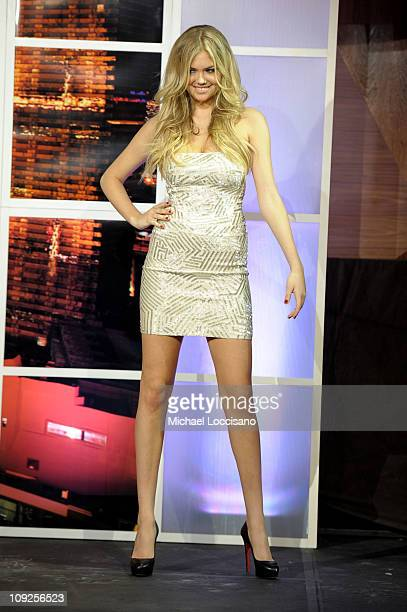 Sports Illustrated swimsuit model Kate Upton attends Club SI Swimsuit hosted by Vanity at Vanity Nightclub at The Hard Rock Hotel and Casino on...