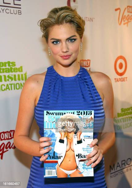 Sports Illustrated swimsuit model Kate Upton attends SI Swimsuit on Location at the Marquee Nightclub at The Cosmopolitan of Las Vegas on February 13...