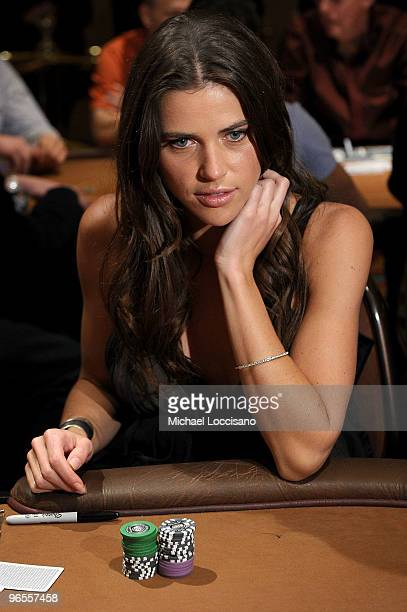 Sports Illustrated swimsuit model Zoe Duchesne attends the Sports Illustrated Swimsuit 24/7 Charity Poker Tournament at The Mirage Hotel and Casino...