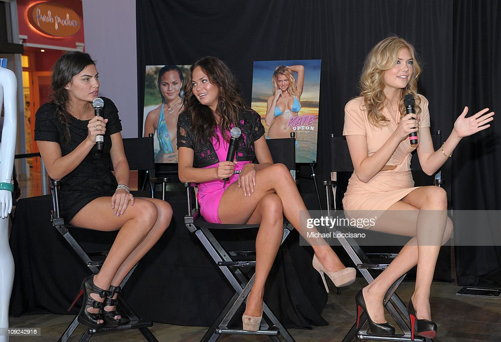 The Fashion Show Mall Hosts SI Swimsuit Fashion & Beauty Roundtable : News Photo