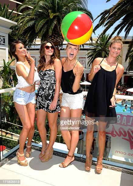 Sports Illustrated swimsuit models Chrissy Teigen Alyssa Miller Kate Bock Nina Agdal and Chrissy Teigen attend the Summer of Swim celebration at the...