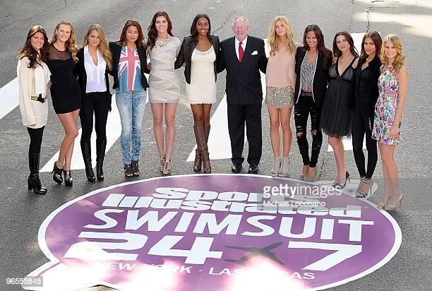 Sports Illustrated swimsuit models Daniella Sarahyba Anne V Esti Ginzburg Jessica Gomes Hilary Rhoda Damaris Lewis Brooklyn Decker Christine Teigen...