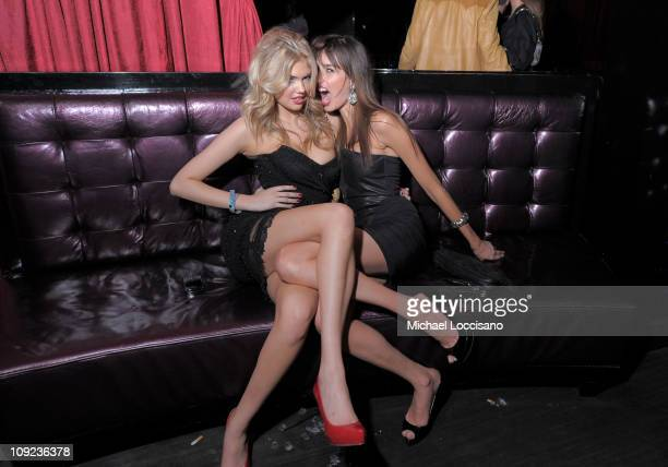 Sports Illustrated swimsuit models Kate Upton and Kenza Fourati attend SI Swimsuit On Location hosted by LAX Nightclub at LAX Nightclub on February...