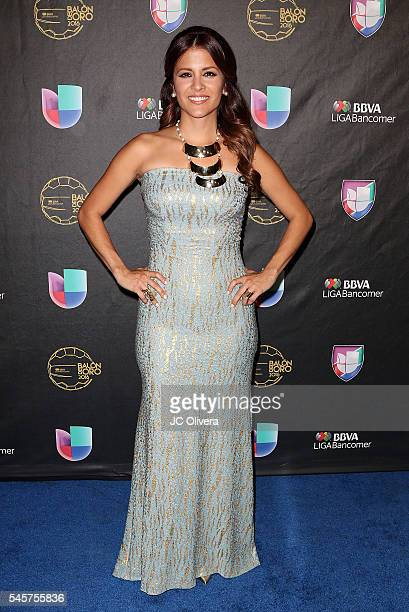 Sports journalist Adriana Monsalve attends Univision Deportes' Balon De Oro Awards at The Shrine Auditorium on July 9 2016 in Los Angeles California