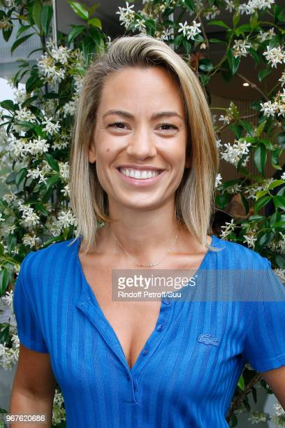 Sports journalist AnneLaure Bonnet attends the 2018 French Open Day Ten at Roland Garros on June 5 2018 in Paris France