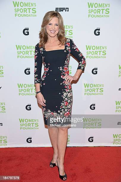 ESPN sports journalist Hannah Storm attends the 34th annual Salute to Women In Sports Awards at Cipriani Wall Street on October 16 2013 in New York...