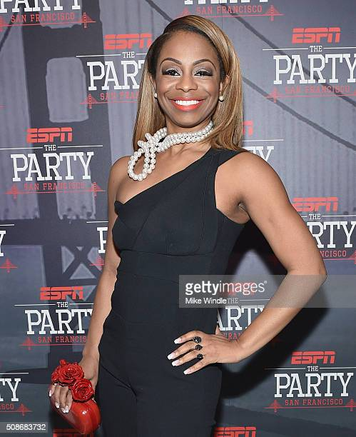 Sports journalist Josina Anderson attends ESPN The Party on February 5 2016 in San Francisco California
