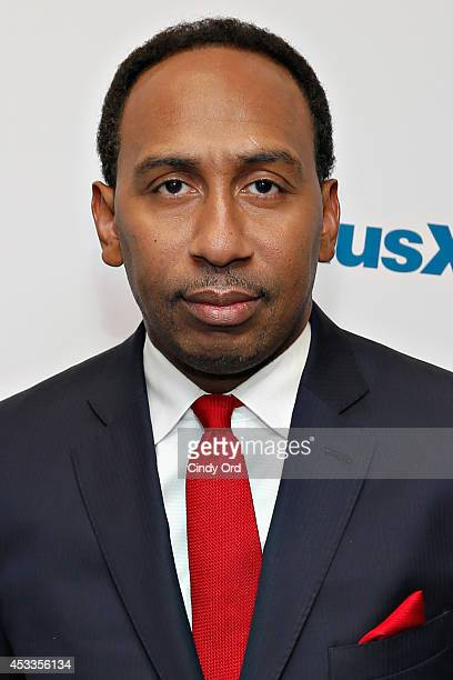 Sports journalist Stephen A Smith visits the SiriusXM Studios on August 8 2014 in New York City