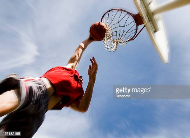 Sports: Man Playing Basketball: Slam Dunk