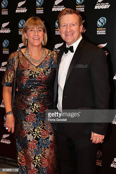 Sports Minister Jonathan Coleman and Sandra Coleman attend the ASB Rugby Awards at SkyCity Convention Centre on December 15 2016 in Auckland New...