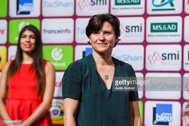 Sports Minister Roxana Maracineanu during the Paris Grand Slam at AccorHotels Arena on February 9 2019 in Paris France